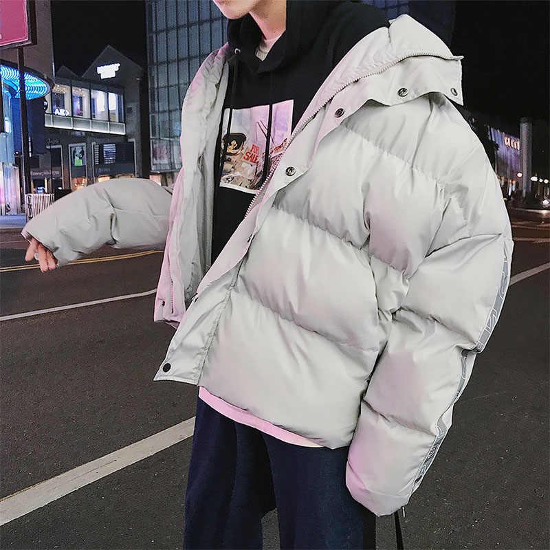 2019 outono e inverno dos homens novos para baixo jaqueta grossa curto juventude jaqueta de neve à prova de vento quente casaco branco para baixo