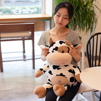 цена kawaii plush toys Meng Meng Habi Cow pillow stuffed animals baby room soft toys jouet bebe hogar decoración Birthday Gift Party онлайн в 2017 году