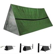 2 pces filme de alumínio barraca de emergência 245x157cm ao ar livre saco de dormir verde manter quente primeiros socorros salva vidas cobertor