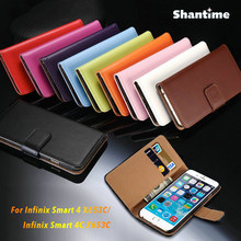 PU Leather Phone Case For Infinix Smart 4 X653C Flip Case For Infinix Smart 4C X653C Business Case Soft Silicone Back Cover(China)