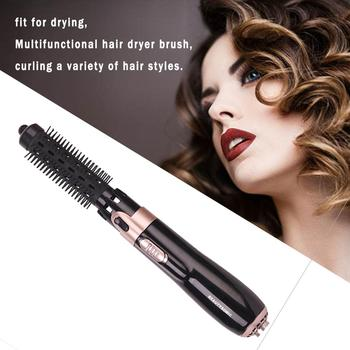 Multifunction 4 In 1 Hair Dryer Machine Comb Auto-rotating Brush Hair Curler Roller Curling Iron Wand Styling Tools image