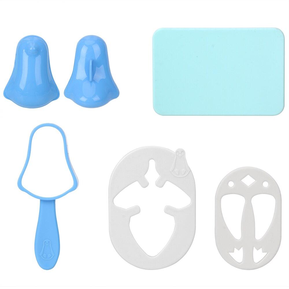 NICEYARD Penguin Sushi Maker Mold Sushi Nori Punch Pad Пластиковая форма для рисовых шариков 1 Набор инструментов для приготовления пищи Bento Tool-1