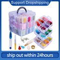 Embroidery Floss Set, 150 Colors Cross Stitch Friendship Bracelets Thread with Floss Bins and 37 Pcs Cross Stitch Tool