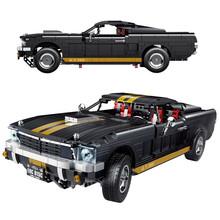 1817 sztuk Mustanged Muscle Car Super Racing zestawy klocków budowlanych cegły klasyczny twórca Model dla dzieci zabawki dla dziecka prezent tanie tanio SYANKWOK CN (pochodzenie) Bloki (kompatybilny z Lego Technic) 7-12y 12 + y Mały klocek do budowania (kompatybilny z Lego)