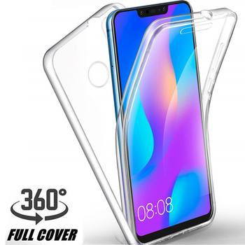 360 Double Silicone Case For Samsung A01 A51 A71 A31 A11 A21S A41 M31 A10 A20S A30S A50 A70 A40 A60 PC+TPU Full Body Clear Cover image
