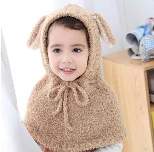 Otoño Invierno bebé niño cárdigan Casaco Linda oreja polar con capucha abrigo suave con capucha abrigo cálido chaqueta infantil