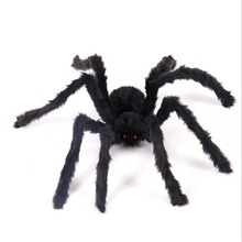 1PCS 30/50/60/75cm Black Halloween Plush Spiders for Kids Children Toy Party or decorations