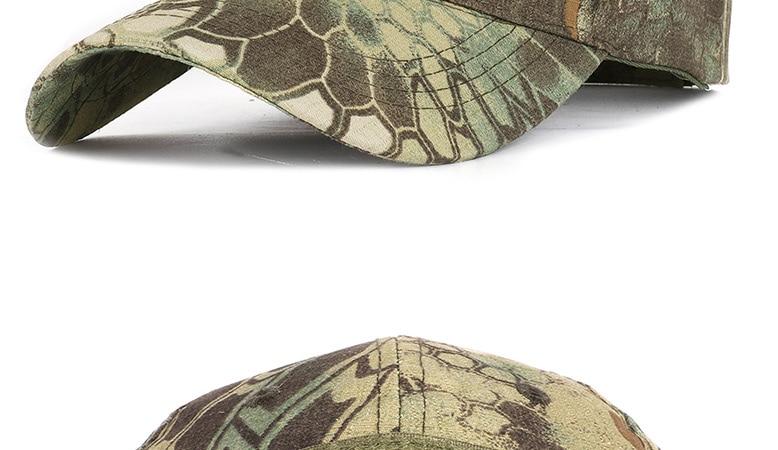 17 Colors Camo Men's gorras Baseball Cap Male Bone Masculino Dad Hat Trucker New Tactical Men's Cap Camouflage Snapback Hat 2020 25
