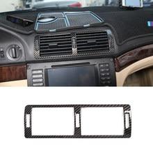 Compartimento central para coche Aire acondicionado Ventilación moldura de cubierta de marco de plástico ABS de fibra de carbono para BMW serie 5 E39 1996-03 Interior accesorio