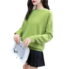 Women Loose Pullover Sweaters Long Sleeve Tops Shirt Casual Plush Sweater 2019 Autumn Winter Women O-Neck Sweater Loose Knitted цена 2017