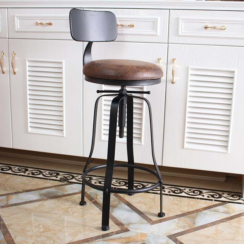 Nordic Rotary Bar Chair Lift Chair Back Iron Art Bar Stand Modern Simple Household Stand Chair Bar Chair