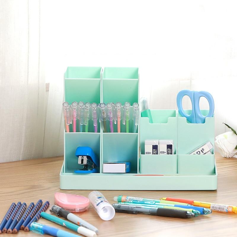 Large Capacity Cute Desk Pen Holder Pencil Storage Box Desktop Organizer Stand Case School Office Stationery 2