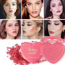 Single Color Gradient Blush Waterproof Smudge-proof Long Lasting Brighten Skin Color Blusher Facial Makeup