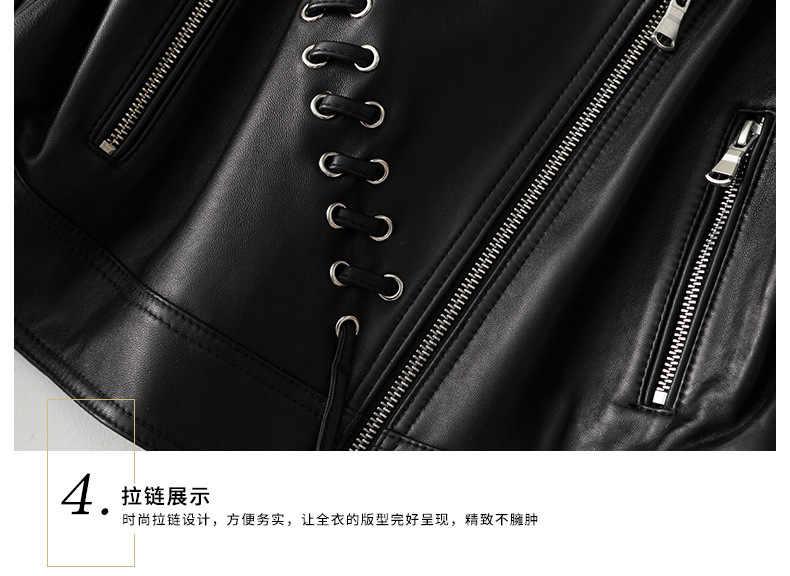 코트 100% 양모 여성 Streetwear 모토 바이커 정품 자켓 여성 봄 겨울 맞는 진짜 가죽 자켓 A56