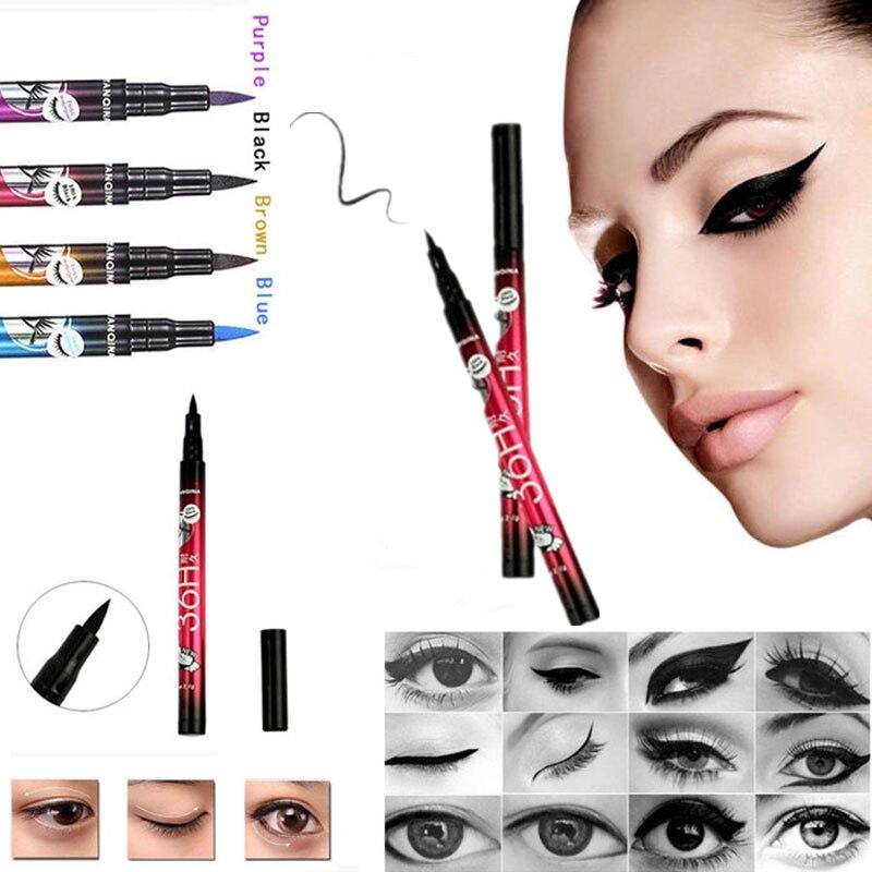 5 style of black liquid eyeliner shade brown make up eye liner color eyeliner waterproof eyeliner eyes makeup stencil for arrows 1