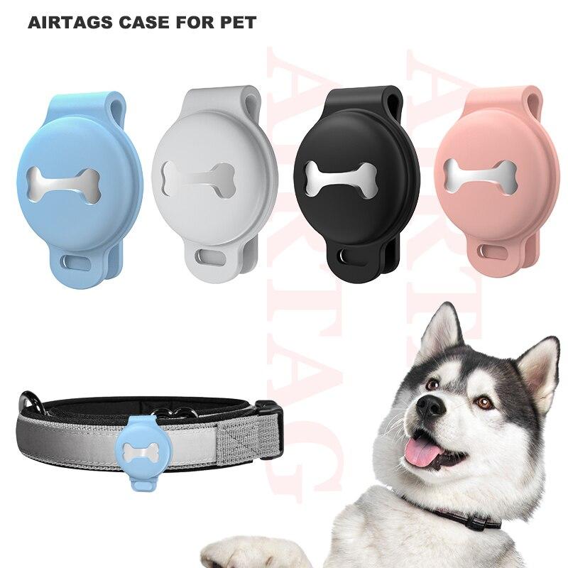 Airtag Bone Loss Prevention Locator Protective Shell Tracker Pet Tracker Silicone Soft Casepet tracker silicone case