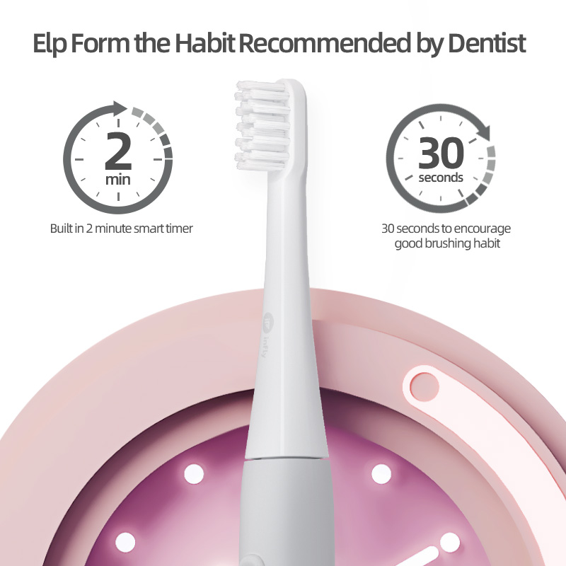 Sonic Toothbrush USB Rechargeable Tooth Brush Dental Electric for Adult Whitening Teeth Cleaner with Replacement Heads for mijia
