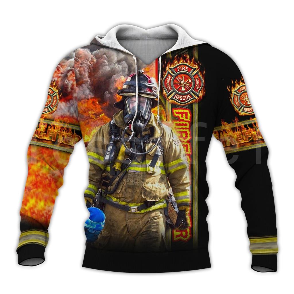 Tessffel Firefighters Suit Firemen Superhero Harajuku Tracksuit NewFashion 3DPrint Zipper/Hoodies/Sweatshirt/Jacket/Men/Women S3