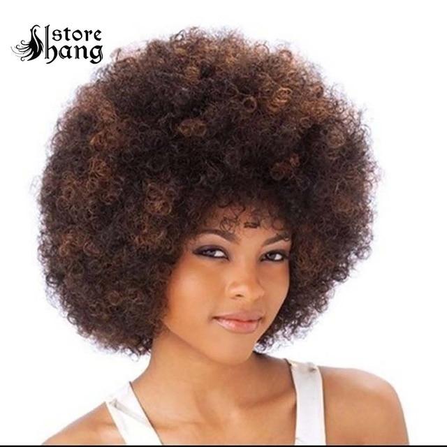 ديسكو شعر أفريقي جودة عالية 60s 70s 80s الهبي الأفرو قصيرة مجعد الشعر هالوين أغطية الرأس موضوع حفلة ديسكو ازياء اكسسوارات