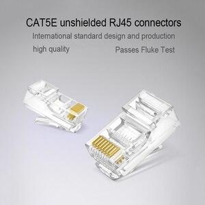 Image 2 - xintylink rj45 connector ethernet cable rg rj 45 Plug Cat5 Cat5e jack utp unshielded Network Modular conector 8p8c lan keystone
