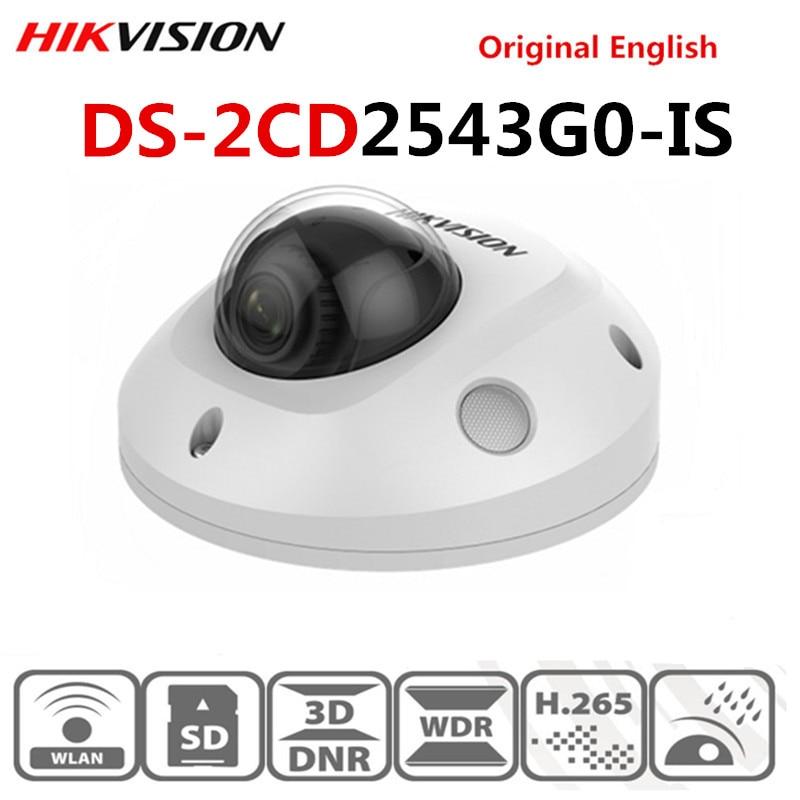 Original Hikvision DS-2CD2543G0-IS POE Video Überwachung 4MP IR Netzwerk Dome Kamera H.265 + SD karte slot Gesicht Erkennen 10M IR IP67
