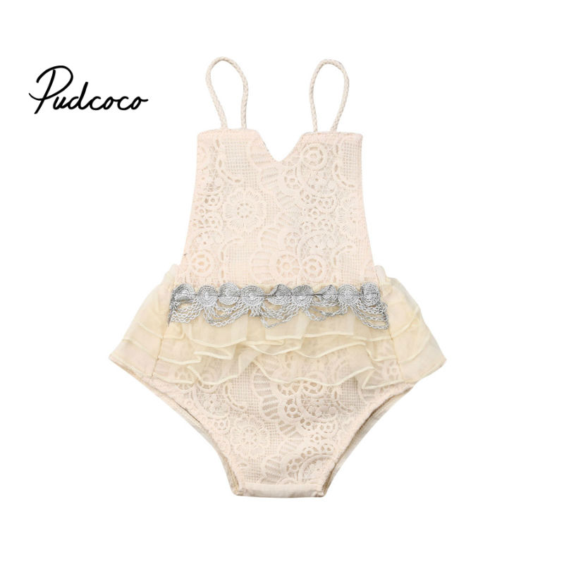 New Years Party Newborn Infant Baby Girl Sleeveless White Body Suit Tutu Skirted Bodysuit Jumpsuit Outfits Baby Clothes 0-24M