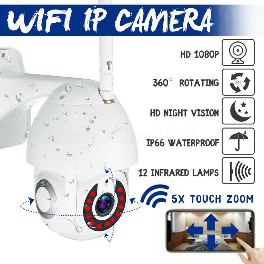 5X Zoom WiFi PTZ IP Camera Pan Tilt 1080P HD Security IP IR Camera Night Vision Outdoor Speed Dome Wireless Wifi Security Camera