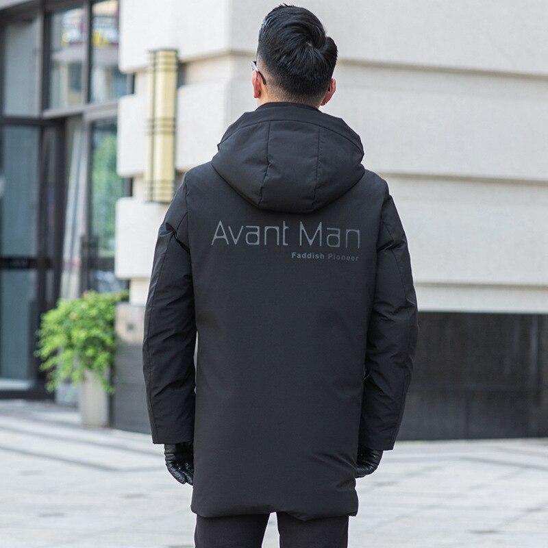 New 2020 White Duck Down Jacket Winter Coat Men Korean Puffer Jacket Men Down Coat Hooded Warm Parka Abrigo 19609 YY1458