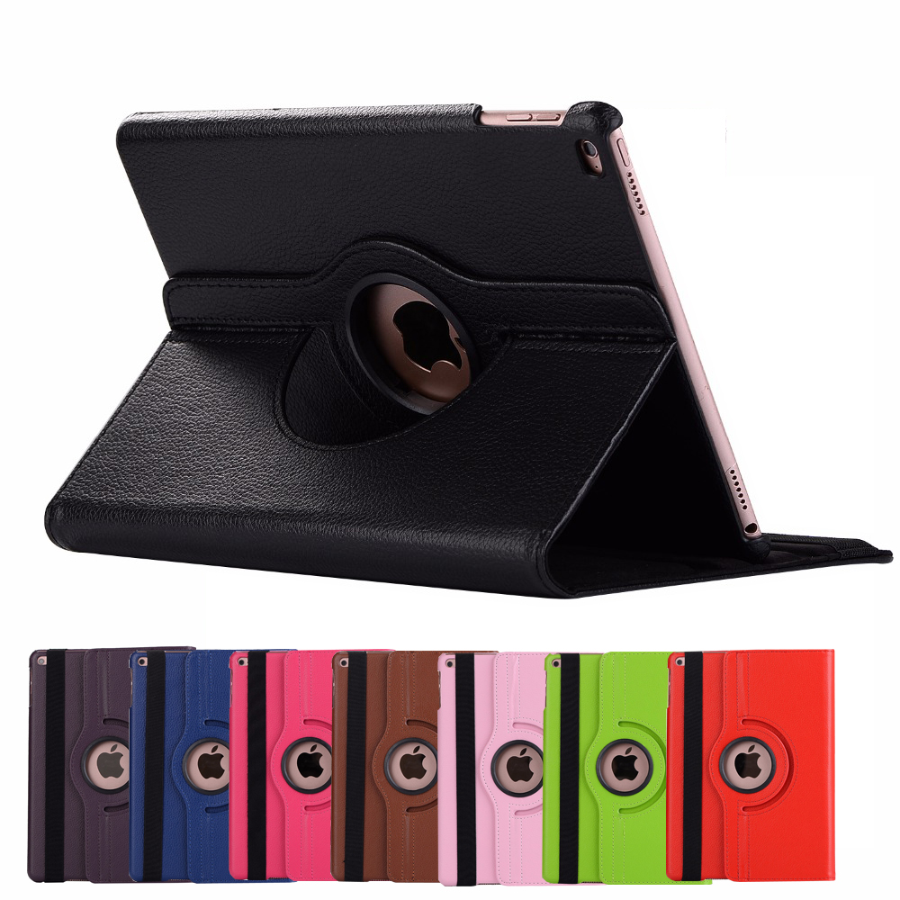 Case for iPad 2018 2017 6th 5th Gen Generation Air 1 2 9.7 A1893 A1954 A1822 A1823 Cover Rotating Smart Sleep Wake Case Funda
