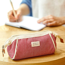 Pencil-Bag-Case Canvas Swallow-Tail Angoo Stationery Storage-Pouch Vintage School-A6525