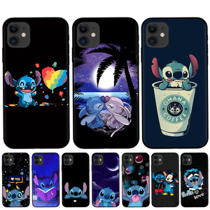 Silicone Phone case for iphone 11 Pro Max Cartoon Stitch Soft TPU Cover For iPhone X XR XS Max 8 7 6 6S Plus 5S SE Cases Shell(China)