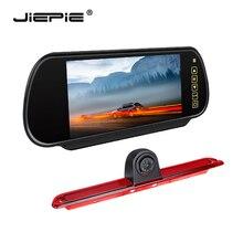 Jiepie Mercedes Derde Remlicht Achteruitrijcamera 7 Inch Backup Camera Monitor Kit Voor Mercedes Ben Sprinter Vw Crafter