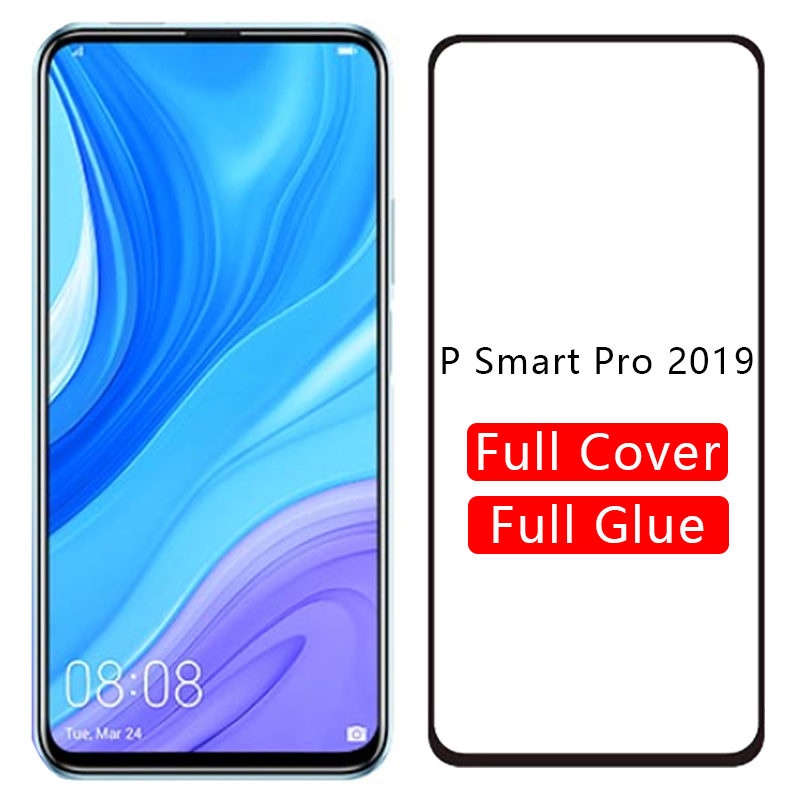Case for huawei p smart pro 2019 cover tempered glass screen protector on psmart smar smat samrt protective phone coque 6.59 3d