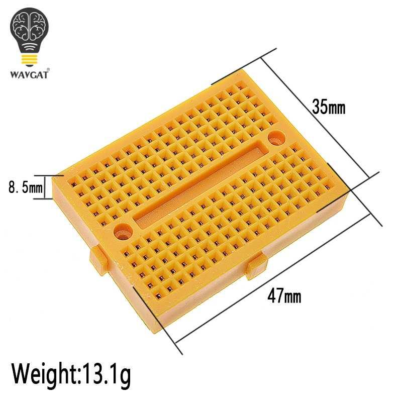 SYB-170 Mini Prototype sans soudure Test expérimental platine de prototypage 170 points de liaison 35*47*8.5mm pour kit de bricolage arduino