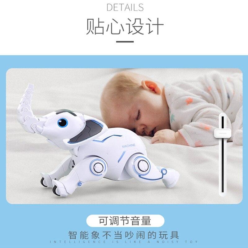 Leneng K17 programmation intelligente éléphant enfants éducatifs petite enfance bionique éléphant anneaux intelligents jouets pour animaux de compagnie - 4