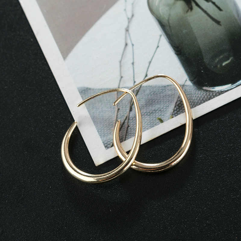 New fashion metal droplets ear ring earrings female personality joker cold wind face thin earrings