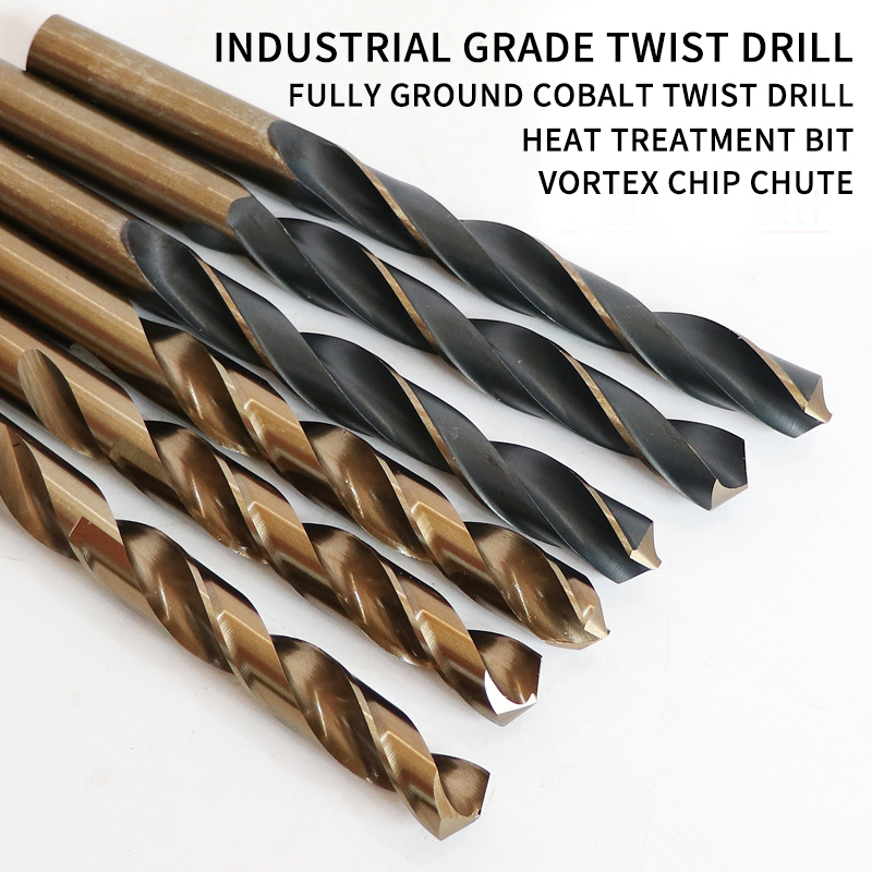 10PCS 1. 5-10mmRound Shank Twist Drill Bit Woodworking Hss Coated Titanium Coated Twist Drill Bit Set For Copper Metal Wood Tool