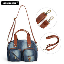 Vintage Fashion Vrouwen Totes Jeans Vrouwen Top-Handvat Tassen Lady Handtas Retro Purse Tote Bag Duurzaam Ruim Unisex denim Tassen(China)