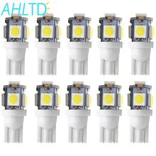 100Pcs T10 W5W 5050 5SMD 5 smd Auto Interior Lights 168 194 LED DC12V License Plate Bulbs Clearance Lamps 5led Marker Wholesale 100pcs univeral t10 wedge 5 smd 5050 xenon led light bulbs 192 168 194 w5w 2825 158 cool white license plate lights freeshipping