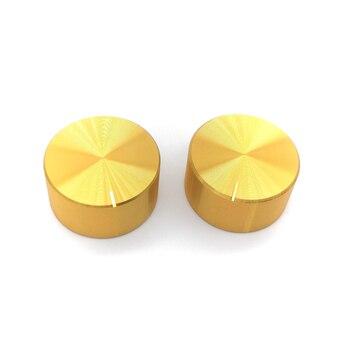 2 sztuk 25x13mm 6mm średnica stopu Aluminium potencjometr regulacja głośności gałka obrotowa wałek radełkowany otwór/oś D