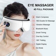 4D masażer do oczu inteligentna poduszka powietrzna wibracje ochraniacz oczu pielęgnacja Instrument ogrzewanie muzyka Bluetooth łagodzi zmęczenie i ciemne koła