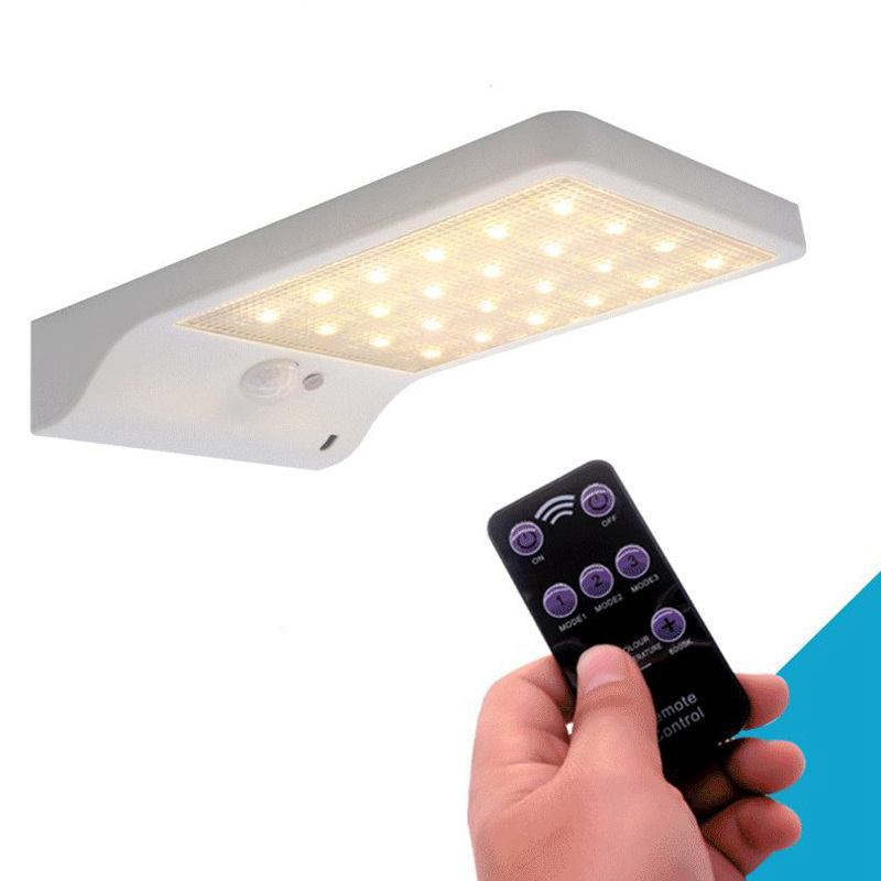 BMBY-Upgraded 48 leds Solar Light Color Adjustable With Controller Three Modes Waterproof Lamp Lights For Outdoor Garden Wall St