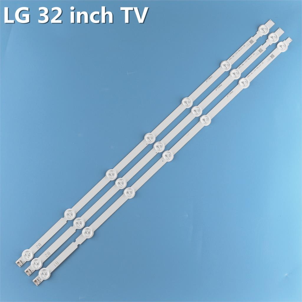 ل LG الخلفية كيت 6916L-1438A B1 6916L-1437A B2 32LN5400 32LN577S 1 مجموعة = 3 قطعة (1 قطعة = 7LED)