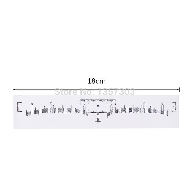 New 50pcs Eyebrow Ruler Sticker Grooming Stencil Shaper Ruler Measure Tool Eye Brow Drawing Guide Card Brow Template DIY Make up 1