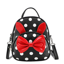 Bolsos para niños y niñas, mochilas escolares para guardería, pajarita de dibujos animados, mochila escolar para bebés