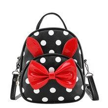 Sacs décole pour filles, sacs décole avec nœud papillon dessin animé mignon, sac à dos décole pour bébés