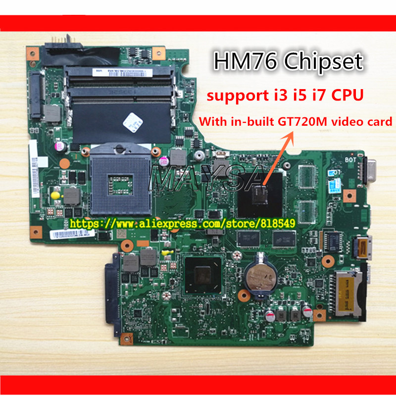 Original laptop motherboard HM76 Chip BAMBI MAIN BOARD REV:2.1 fit for Lenovo G700 <font><b>notebook</b></font> pc system board with GT 720M graphic image
