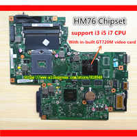 Original laptop motherboard HM76 Chip BAMBI MAIN BOARD REV:2.1 fit for Lenovo G700 notebook pc system board with GT 720M graphic
