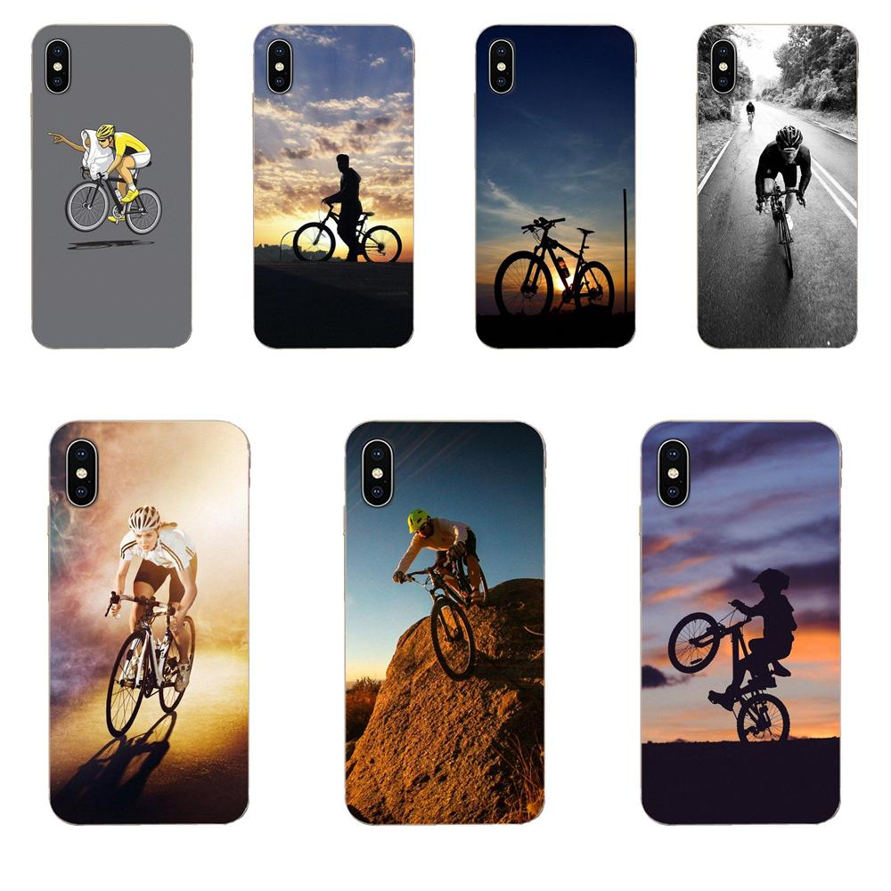 Quote <font><b>Case</b></font> Slim For <font><b>Samsung</b></font> Galaxy A10 A20 A20E A3 A40 A5 A50 A7 J1 J3 J4 J5 J6 J7 2016 2017 2018 Bike Cyclist Black On <font><b>White</b></font> image