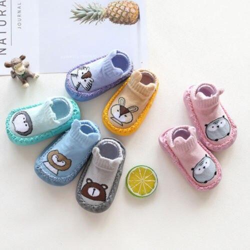 New Newborn Baby Boy Girl Shoes Animal Printed Prewalker Soft Sole Kids Shoes Anti-slip Shoes